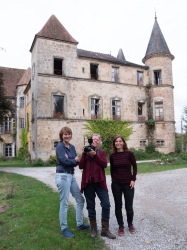 Maike den Houting  and Marjan Rosendahl during a photo shoot at Chateau Digoine in Burgundy