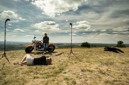 Flash photo by Maureen van Dijk, Harley Davidson driver
