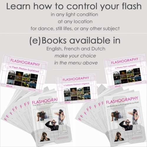 Learn about flash photography with the many step-by-step exercises.